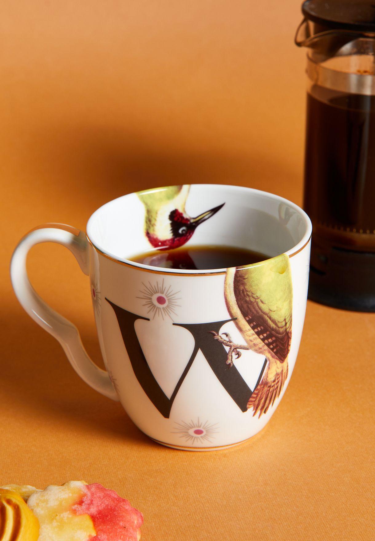 Alphabet Mug - Woodpecker