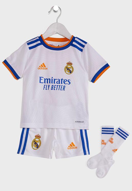 Kids Real Madrid Home Jersey Set