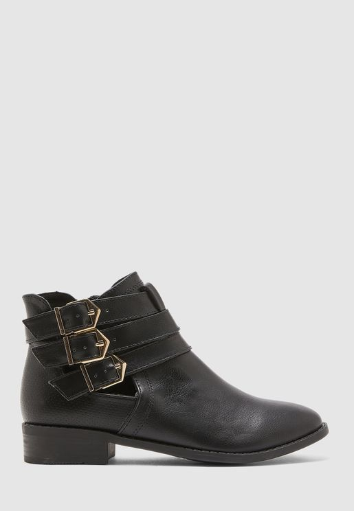 Moppet Open Sided Buckle Boot