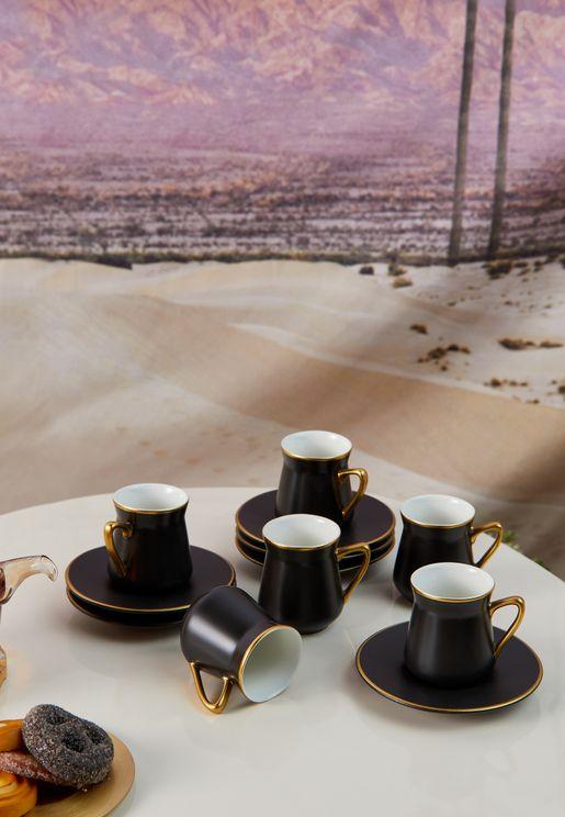 Set Of 6 Ceramic Tea Cups