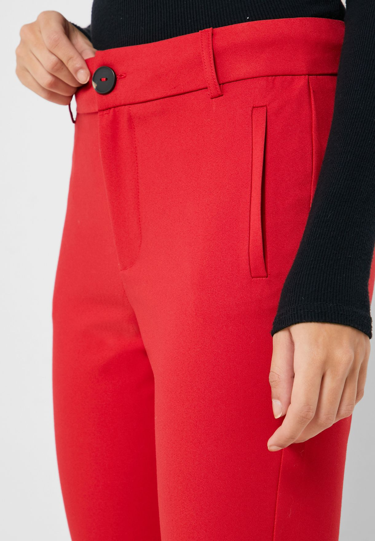 Front Pleated Tailored Pants