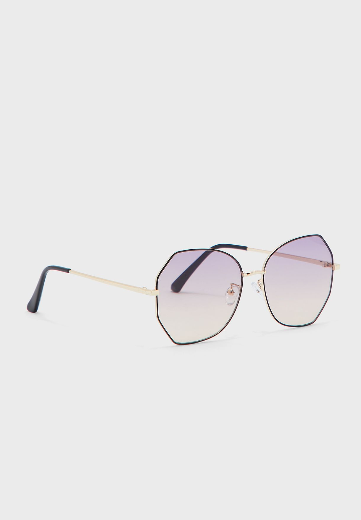 Rounded Ombre Lens Catseye Sunglasses