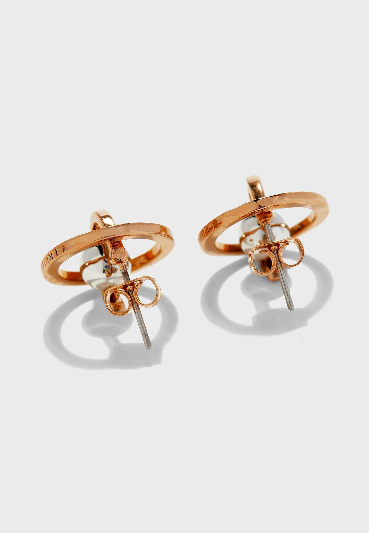 Metal Bead Stud Earrings