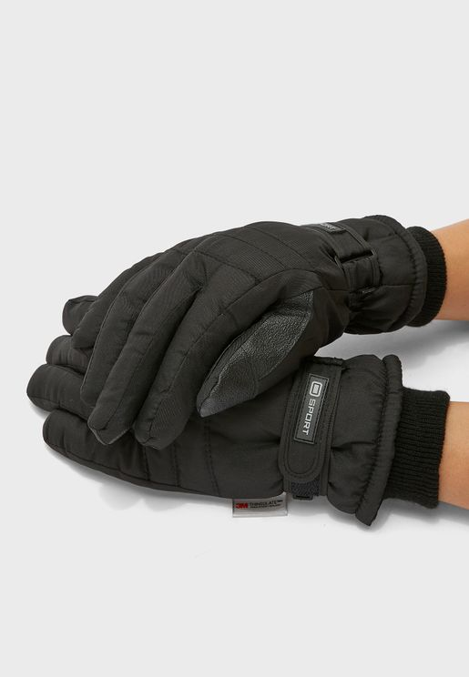 MENS THINSULATE SKI PADDED GLOVES