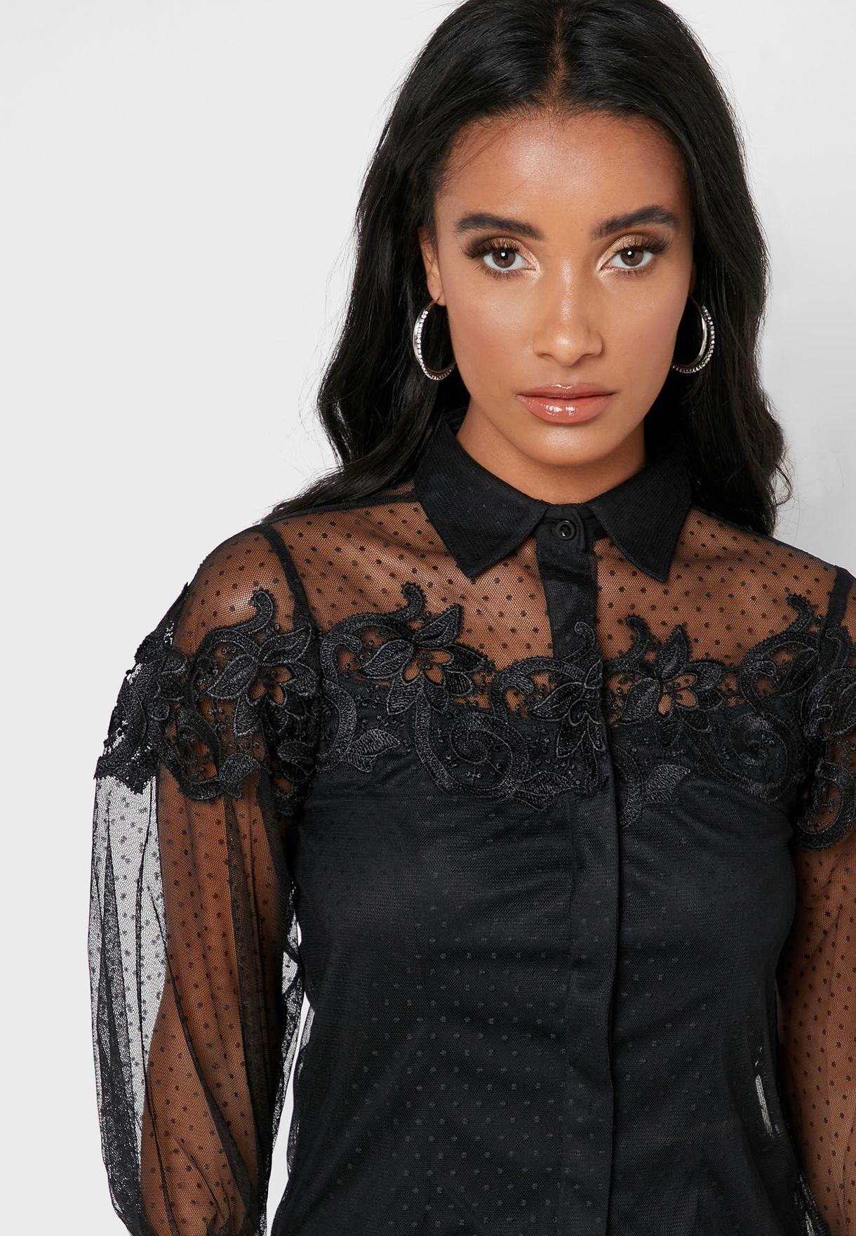 Lace Mesh Shirt