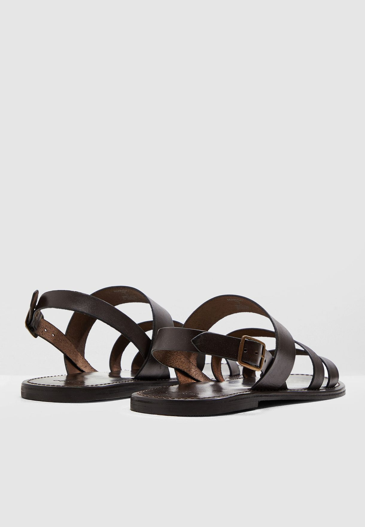 Triple Strap Leather Sandals