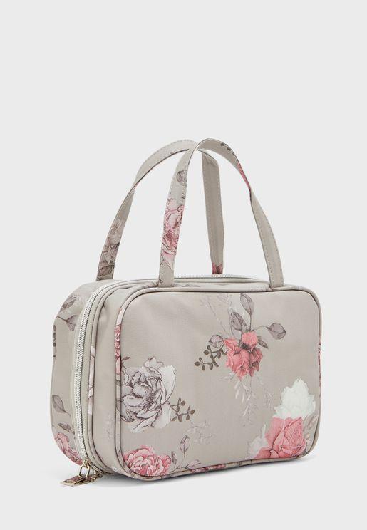 Floral Cosmetic Bag