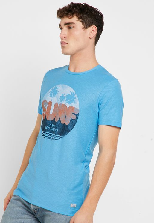 Graphic Crew Neck T- Shirt