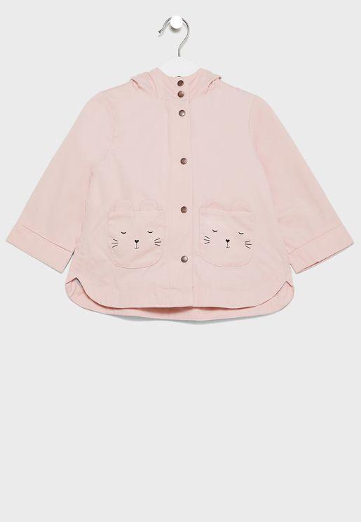 Infant Pocket Detail Trench Coat