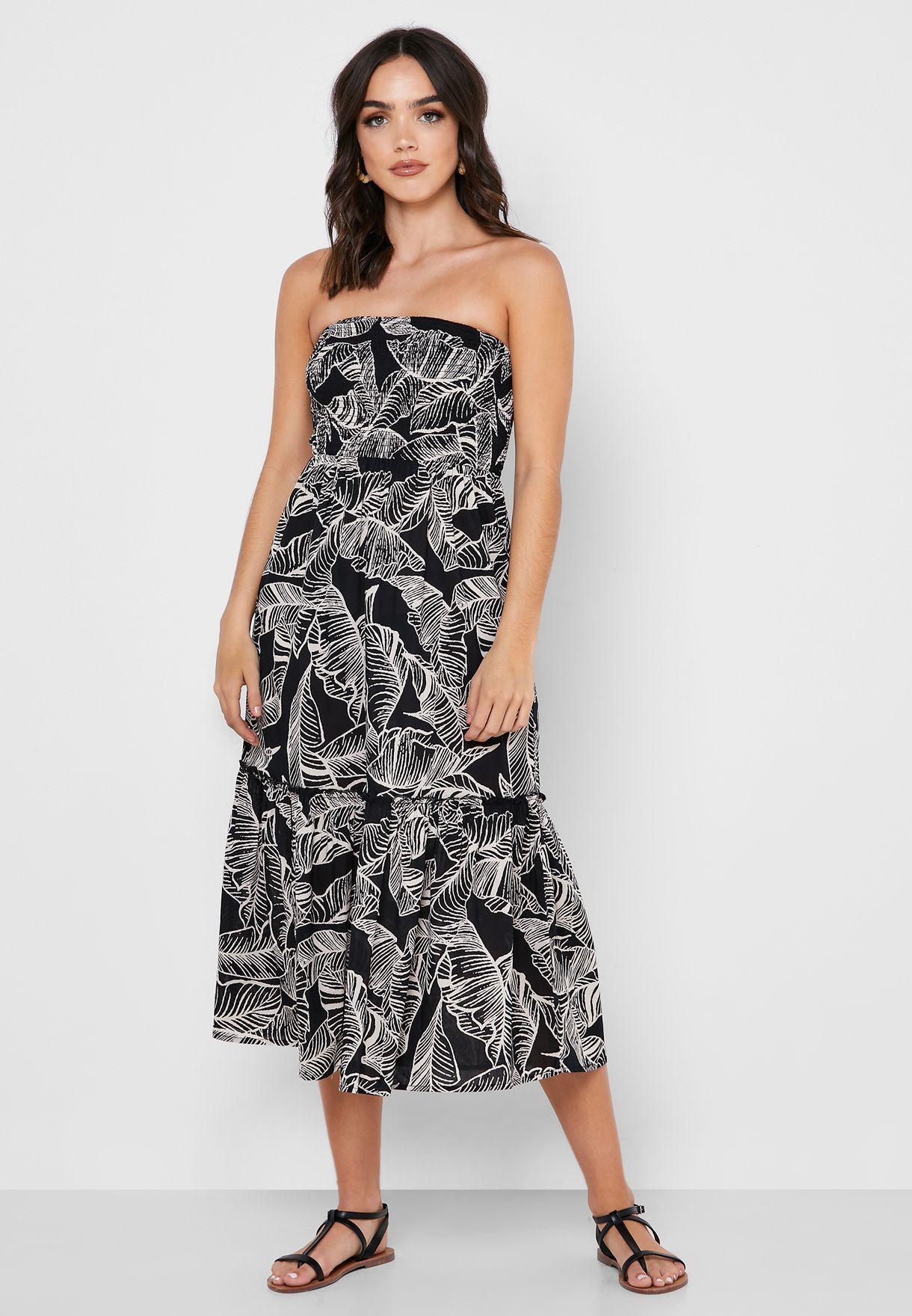 Printed Bandeau Dress