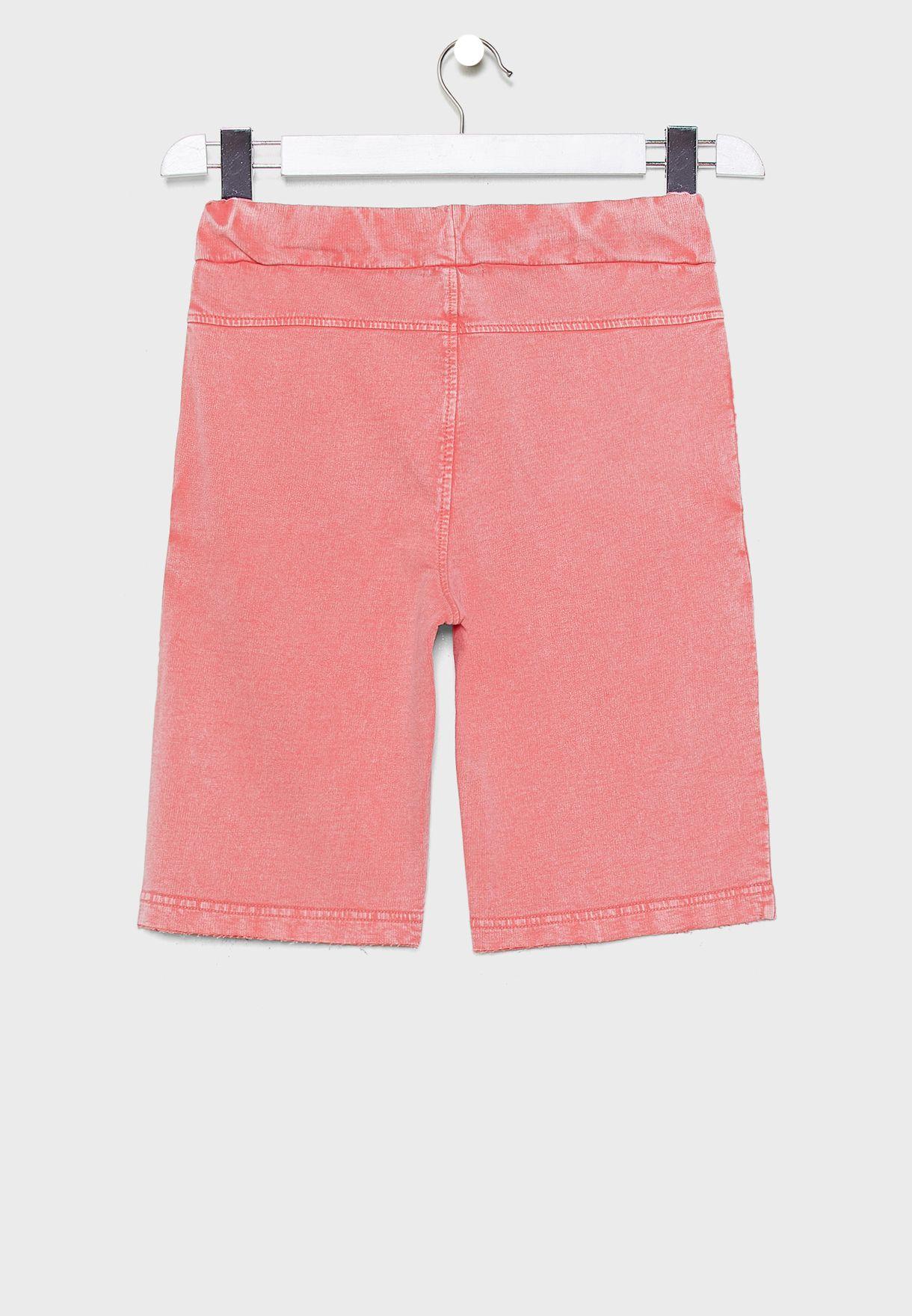 Youth Tie Waist Sweat Shorts