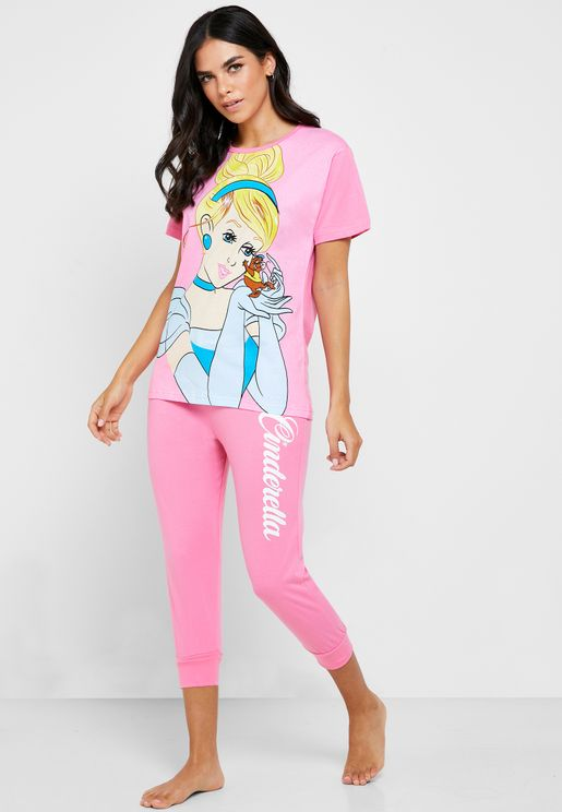Cinderella Graphic T-Shirt & Capri Set