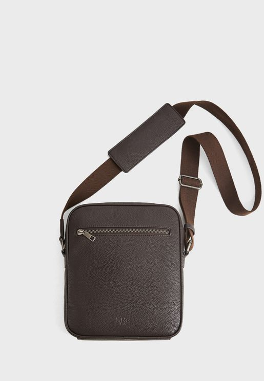 Allday Front Zip Messenger Bag