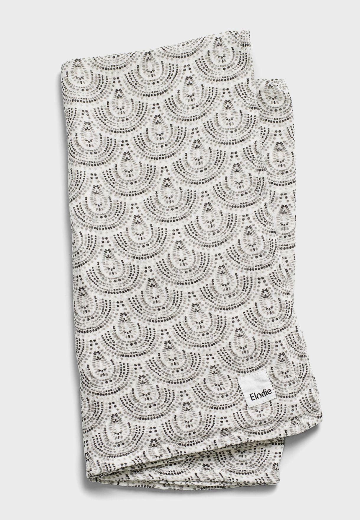 بطانية مطبعة بحواف شراشيب
