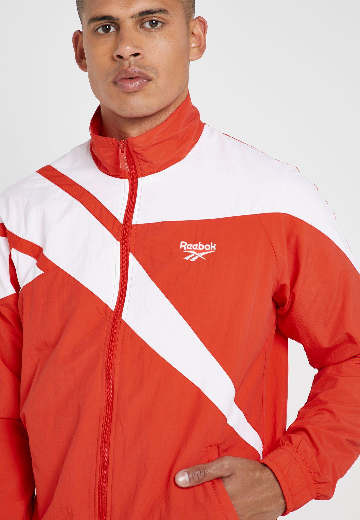 391b7c58ac9 Shop Reebok red Archive Vector Track Jacket EC5781 for Men in Saudi ...
