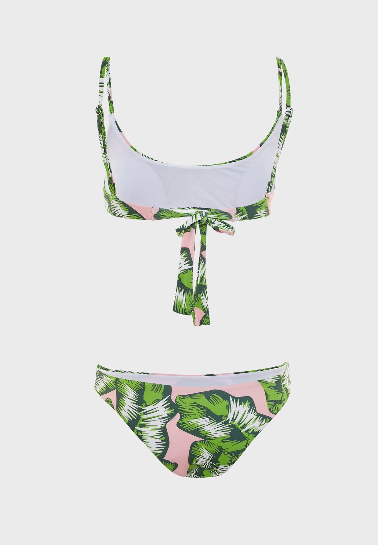 Lara Scoop Neck Printed Bikini Set