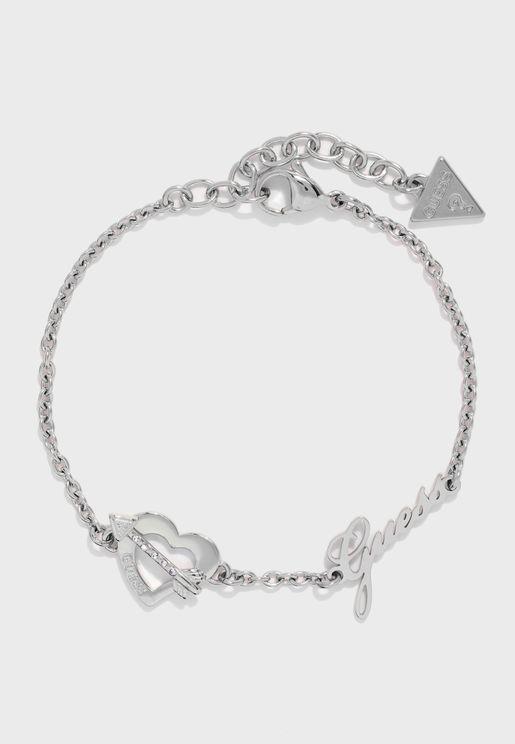Heart And Arrow Crystal Bracelet