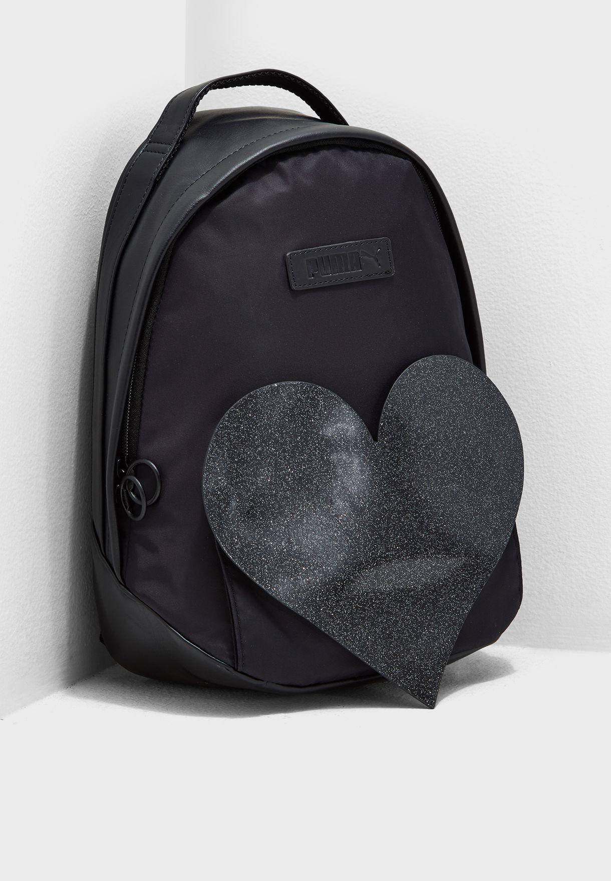 dd924269b59c Shop PUMA black Prime Archive Valentine Backpack 7578501 for Women ...
