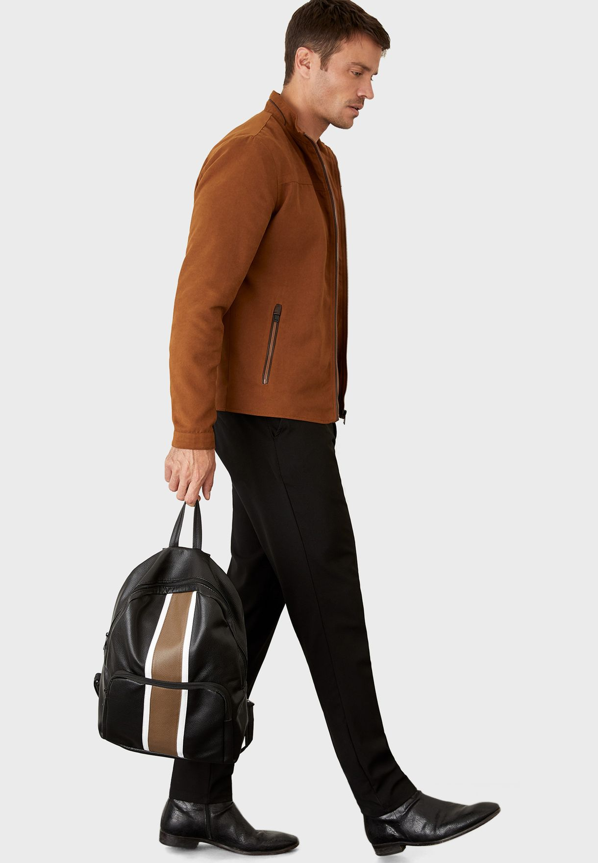 Contrast Zip Detail Backpack