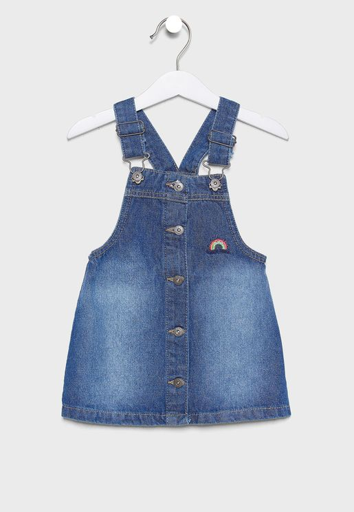 Infant Button Detail Dungaree