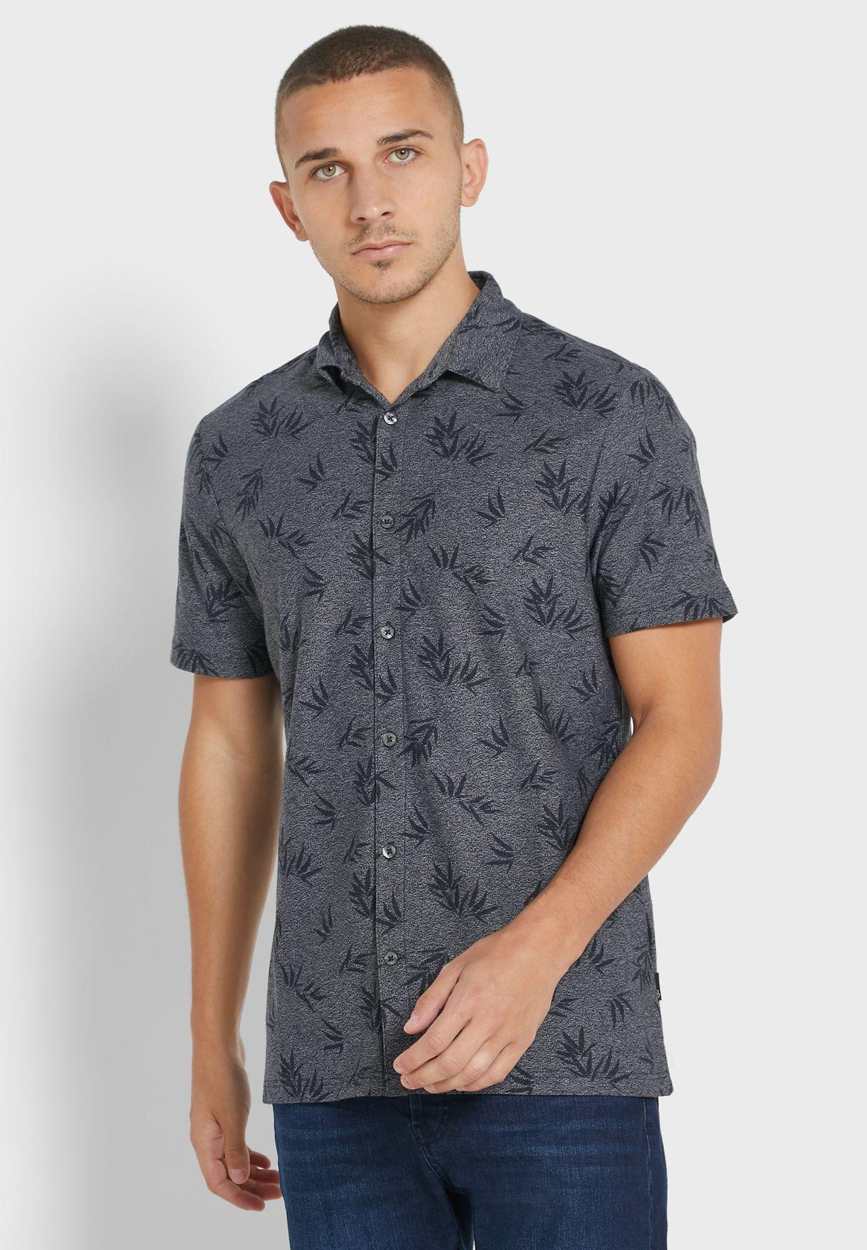 Bamboo Print Slim Fit Shirt
