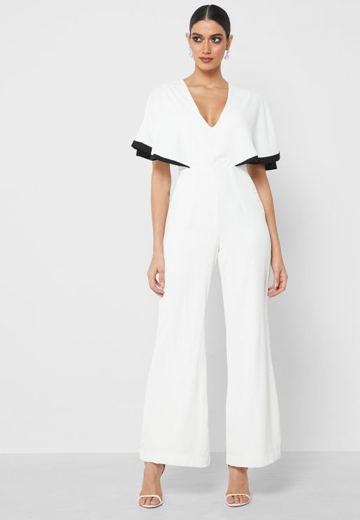Flared Sleeve Jumpsuit