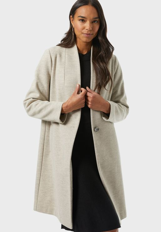Longline Pocket Detail Coat