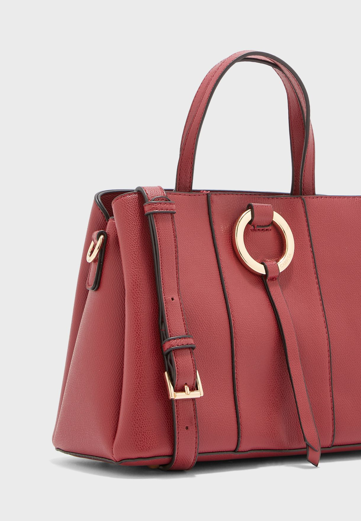 Berry Ring Detail Belted Crossbody