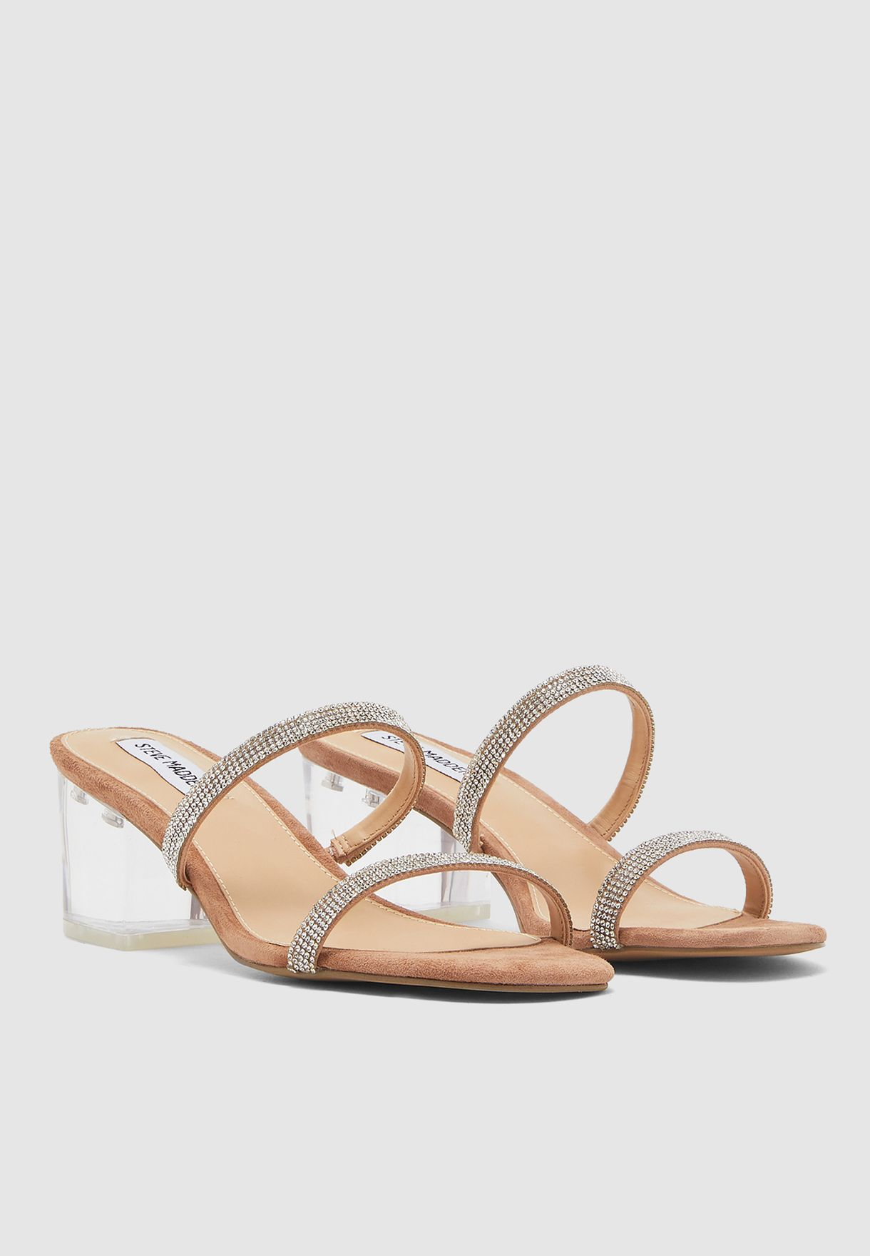 Issy-R Double Strap High Heel Sandal - Brown