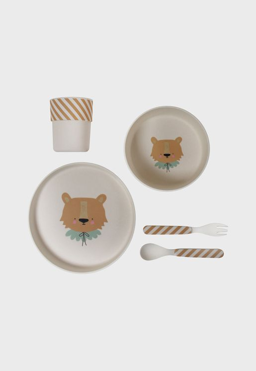 Bamboo Lion Eco Dinner Set
