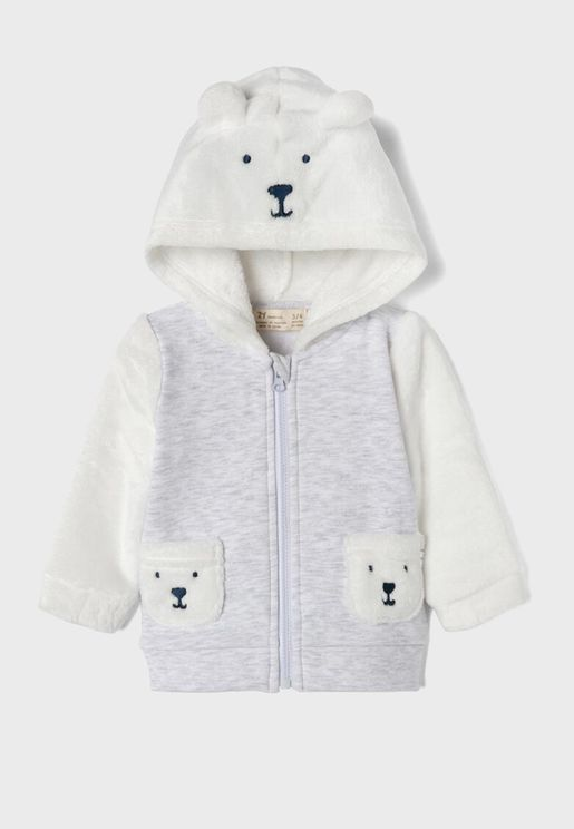 Infant Bear Zip Through Hoodie