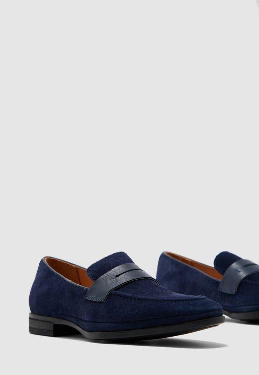 حذاء لوفر شامواه اصلي