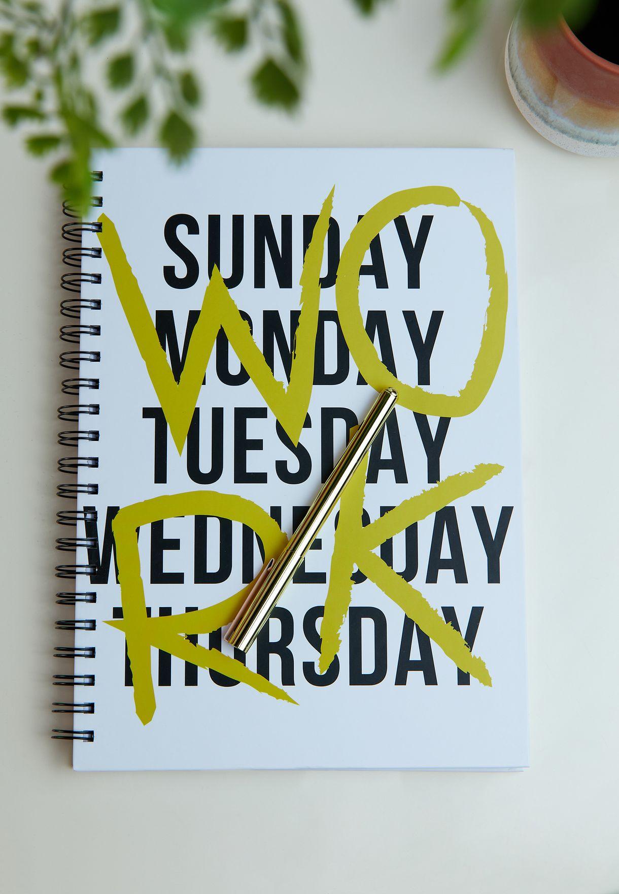 A4 Work Notebook