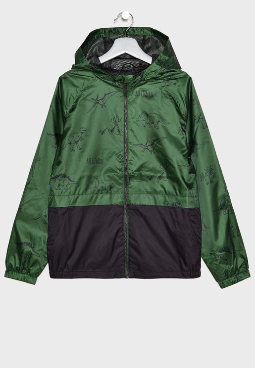 Kids Hooded Camo Jacket
