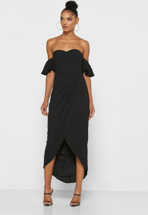 Bardot Wrap Midi Dress