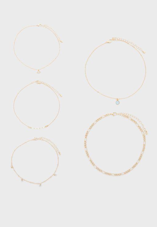 5 Pack Necklace Set