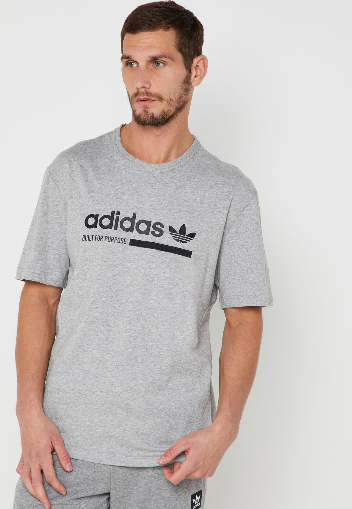 90453fef5 Shop adidas Originals grey Kaval T-Shirt DV1923 for Men in UAE -  14448AT93BEP
