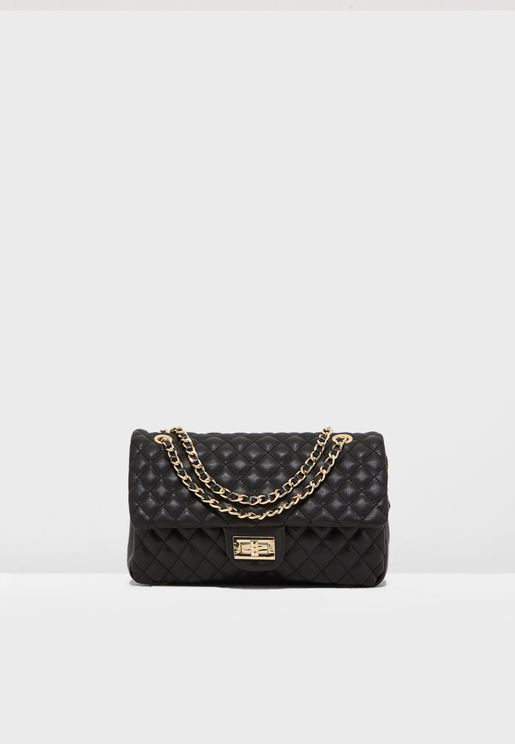 01638c0171772 Rhine Quilted Flap Over Crossbody