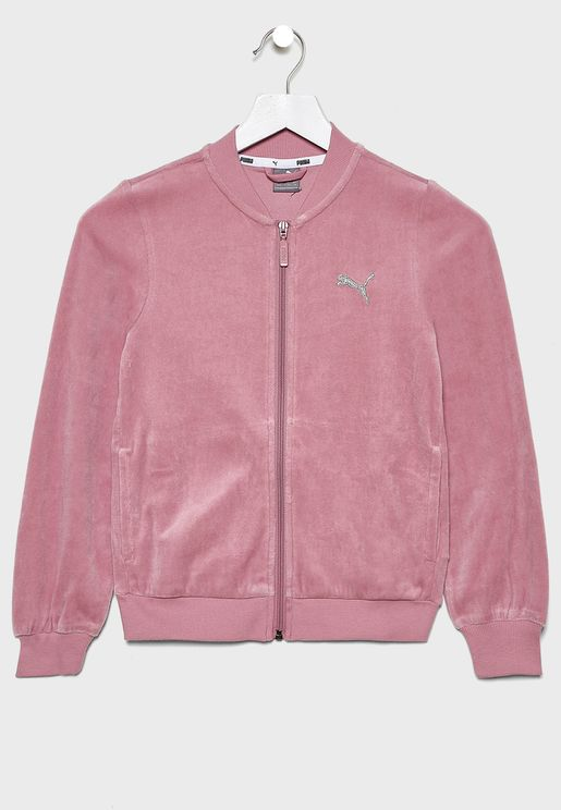 Kids Alpha Velvet Track Jacket
