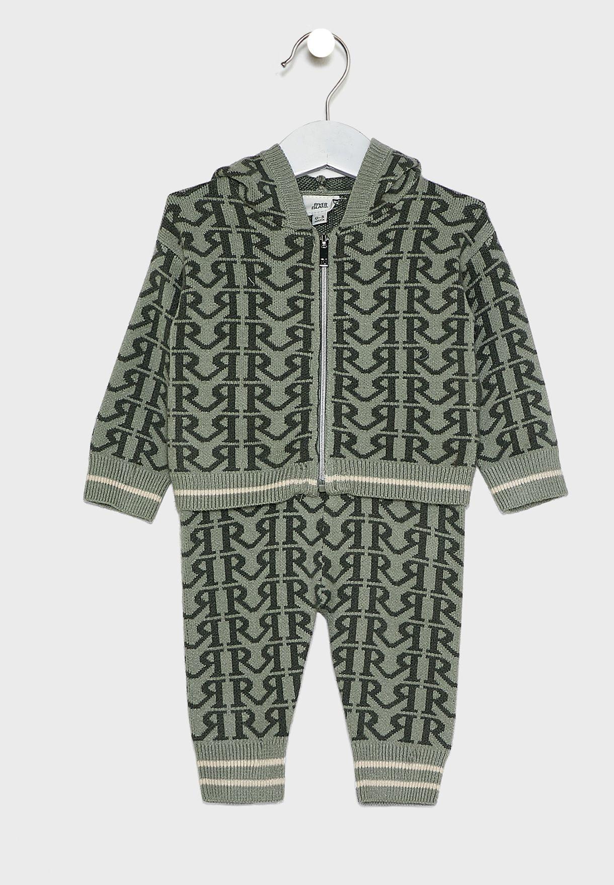 Infant Monogram Cardigan Set