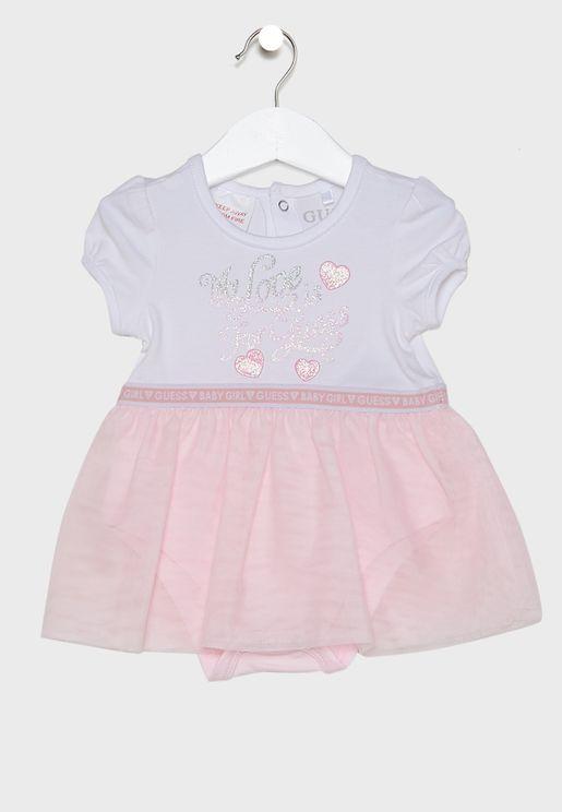 Infant Slogan Dress