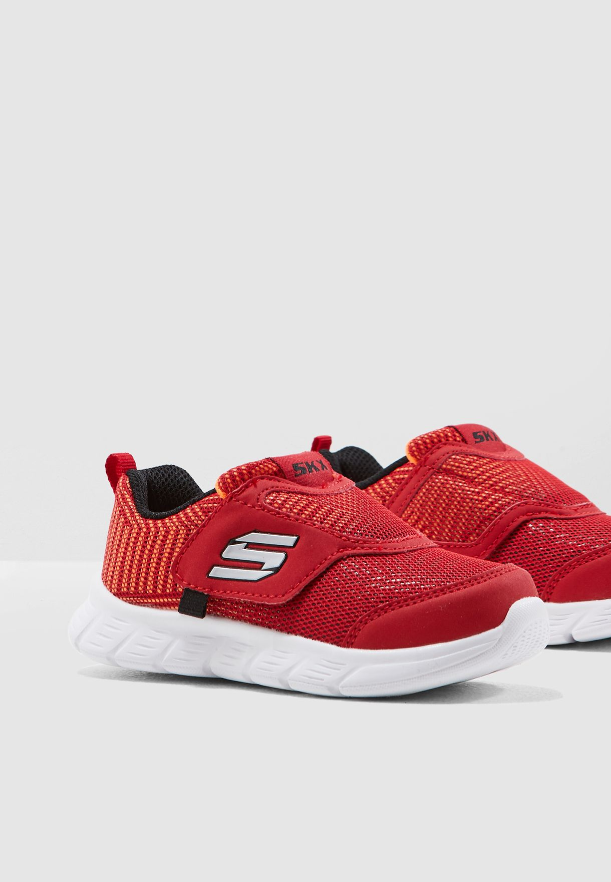 ff6c8c06ffee Shop Skechers red Infant Comfy Flex 95033N-RDBK for Kids in UAE ...