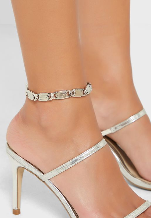 Swirly Detail Anklet