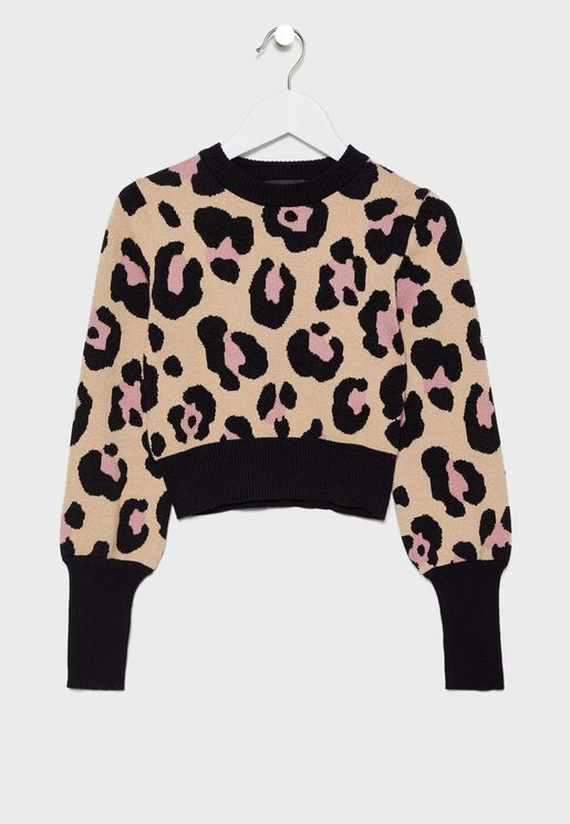 Little  Leopard Knit Sweater