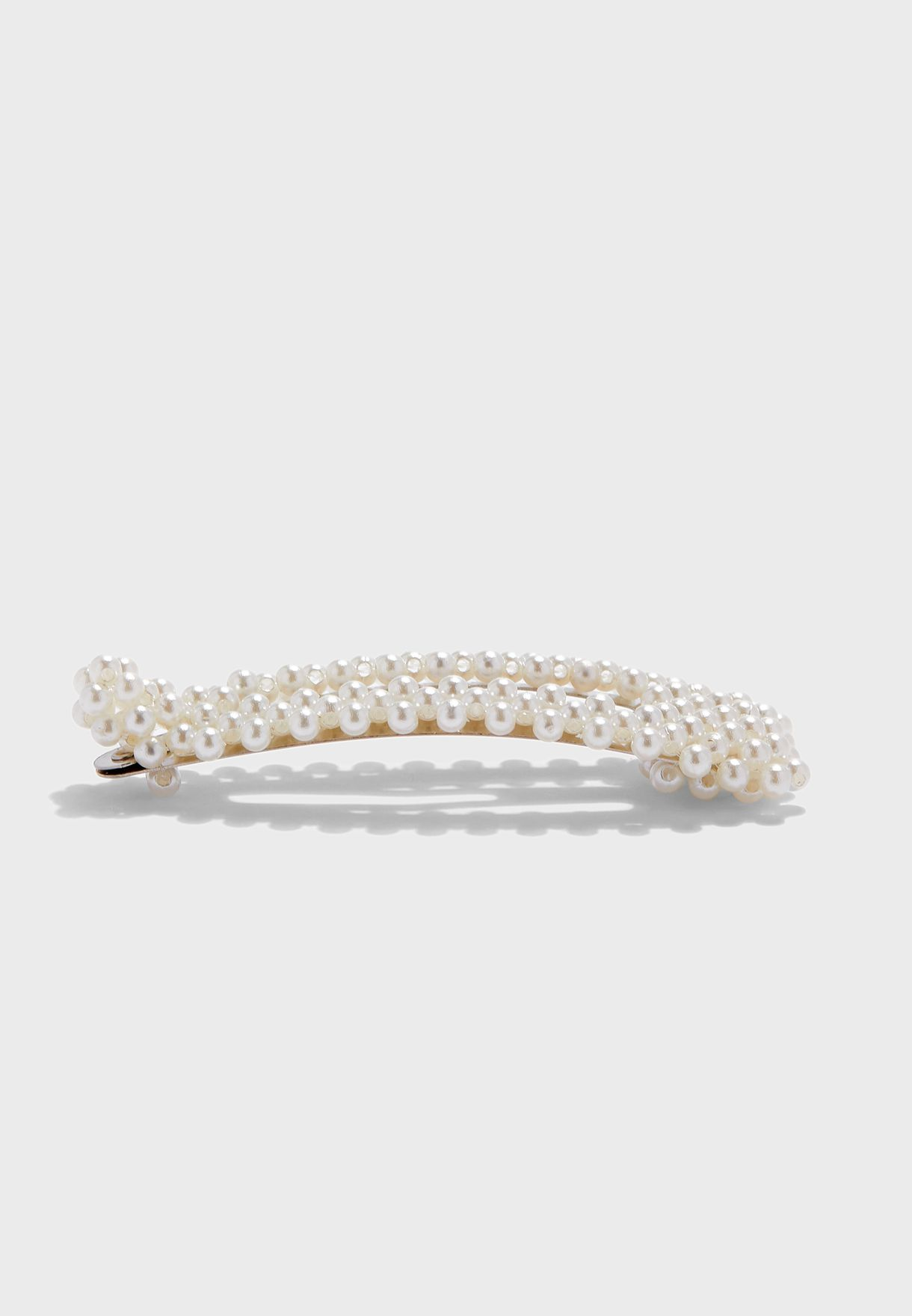 Faux Pearl Embellished Hair Clip