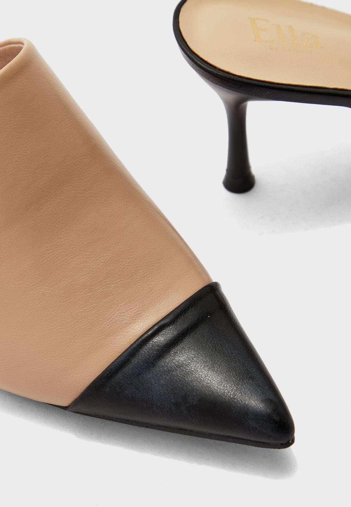 Colourblock Pointed Heel Pump