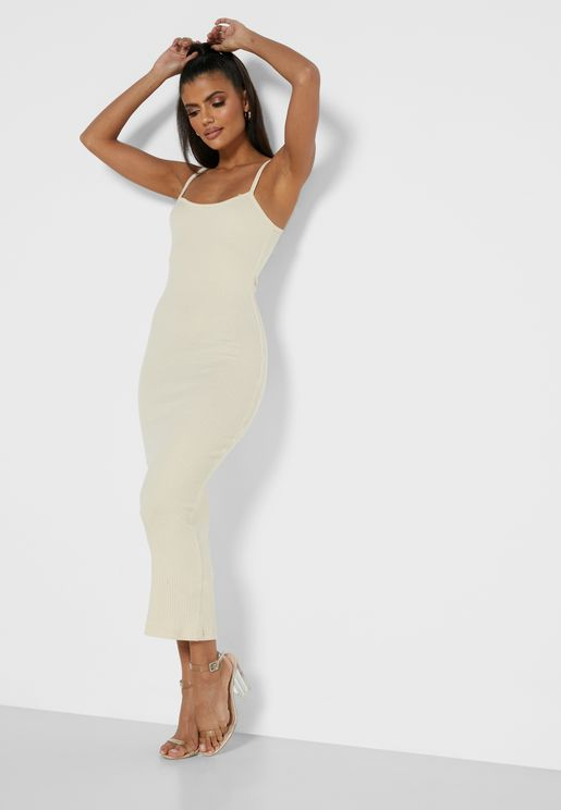 Cami Strap Ribbed Dress
