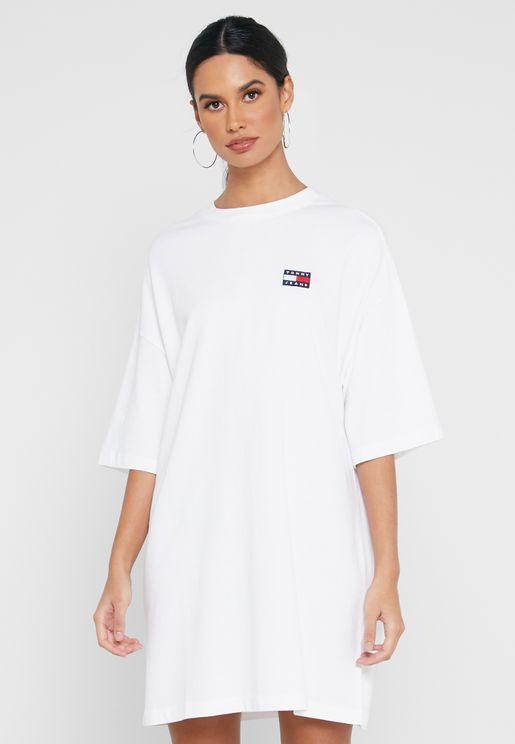 Logo Badge T-Shirt Dress