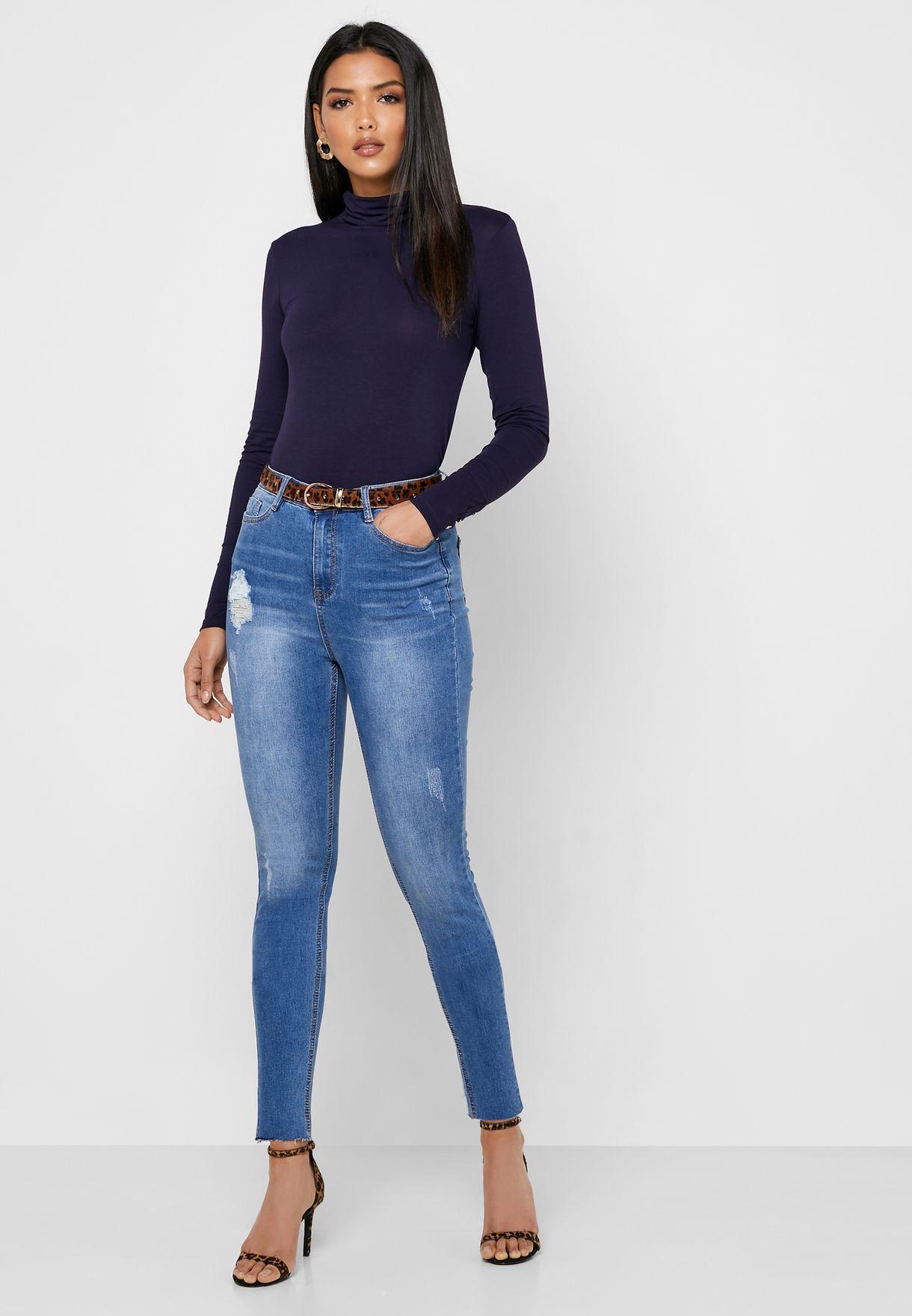 Sinner Ripped Skinny Jeans
