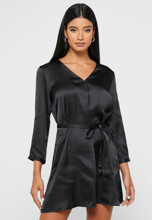 Front Pleated  Dress